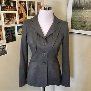 MOSCHINO C&C gray fitted blazer SZ 6